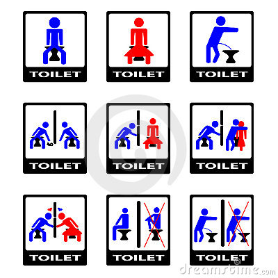6  funny toilet sign