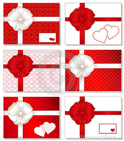 6 Gift Boxes with Hearts