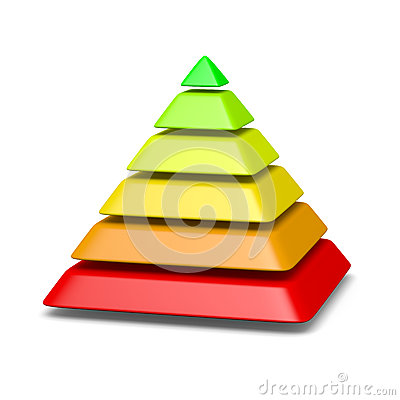Free 6 Levels Pyramid Structure Environment Concept Royalty Free Stock Photos - 31361338
