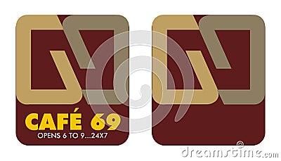 6 logo för 9 cafe till