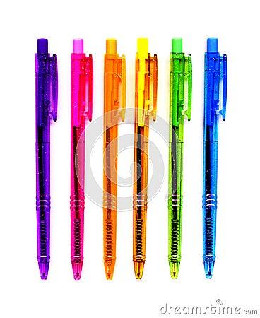 6 Neon Pens