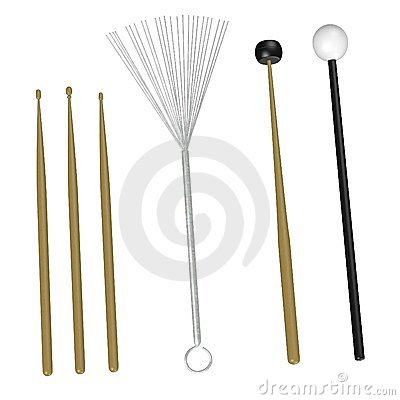 6 percussion sticks