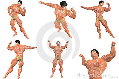 6 For The Price of 1! Body Builder 3D (with clipping paths)