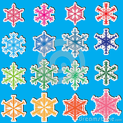 Snowflakes Set_eps