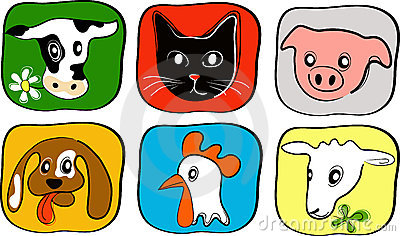 6 Simple Animal Icons