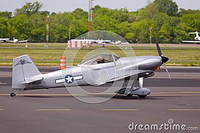 AT-6 Texan aircraft on runway. Editorial Photo