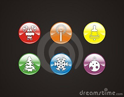 6 winter symbols and icons