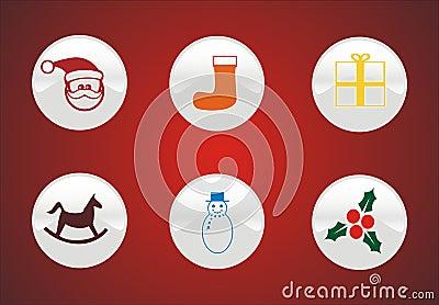 6 winter symbols and icons