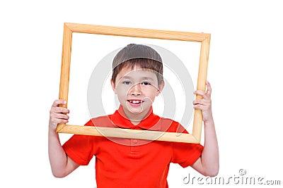 A 6 y.o. boy with a frame