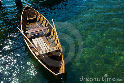Old Wooden Row Boats Wooden Rowing Boat