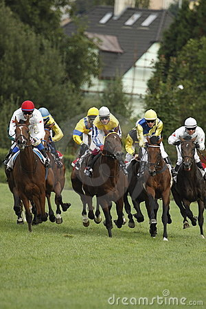 65. Tattersalls St. Leger race in horse racing Editorial Stock Photo