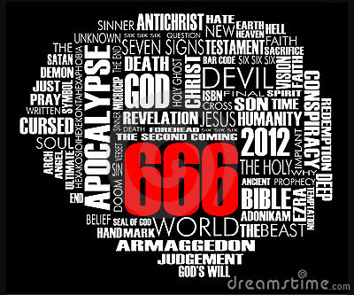 666 Word Cloud Vector Black