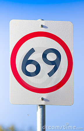 Free 69 Road Sign On The Highway Of Love Royalty Free Stock Photo - 20057585
