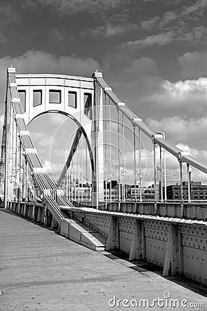 Free 6th Street Bridge Across The Allegheny River Stock Photos - 8190673