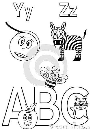 7个字母表着色孩子
