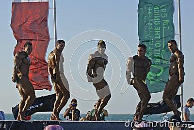7 το bodybuilding πρωτάθλημα βουτά ο&upsil Εκδοτική Στοκ Εικόνες