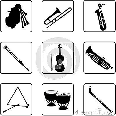7 musikaliska instrument