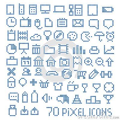 70 pixel web icons