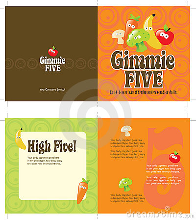 70s style 5x10 brochure template