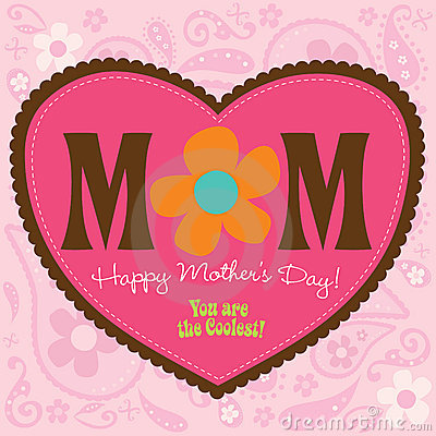 Free 70s Style Mothers Day Card Stock Photos - 9083043