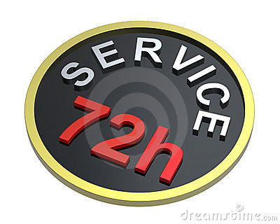 72 hours service sign