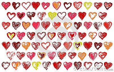 74 sketchy hearts