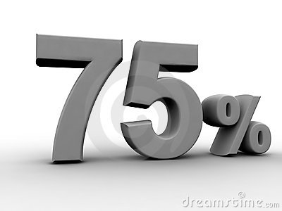 75 per cento