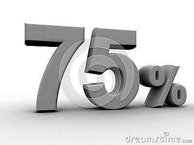 75 pour cent