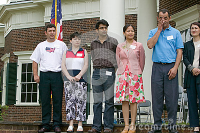 76 new American citizens Editorial Image