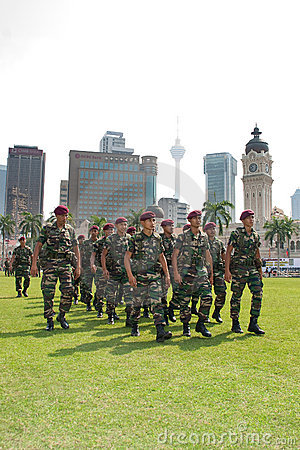 78th Malaysian Army Anniversary Celebrations 2011 Editorial Image