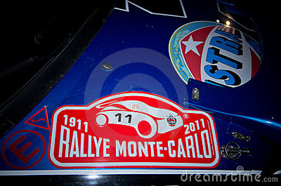 79th Rally de montecarlo , centenary  edition Editorial Stock Photo