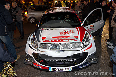 79th Rally de montecarlo , centenary  edition Editorial Stock Image