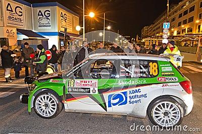 79th Rally de montecarlo , centenary  edition Editorial Stock Image