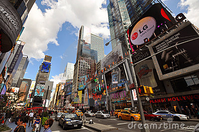 7th Ave and Times Square, New York City Editorial Stock Image