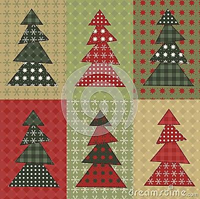 Σύνολο 8 χριστουγεννιάτικων δέντρων