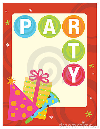 Free 8.5x11 Party Flyer/Poster Royalty Free Stock Photography - 10325617