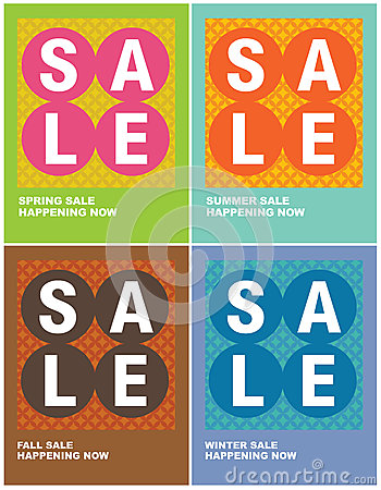 Free 8.5x11 Seasonal Sale Flyers/Posters Royalty Free Stock Photography - 9987947