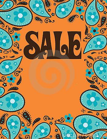 Free 8.5x11 Seventies Style Sale Shell/Poster Template Royalty Free Stock Photography - 10883427