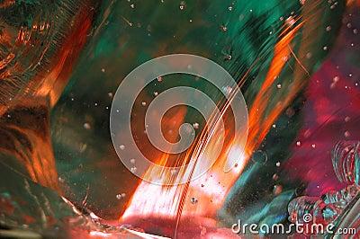 8 abstrakt glass smält