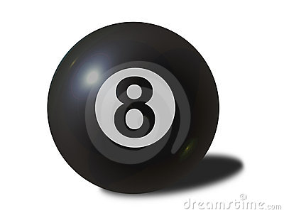 8 ball (with clipping path)
