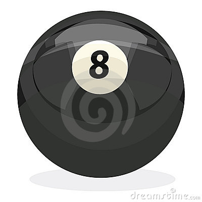 8 Ball with clipping path
