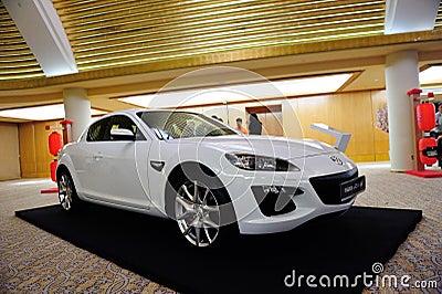 8 coupe pokazu Mazda rx Fotografia Editorial