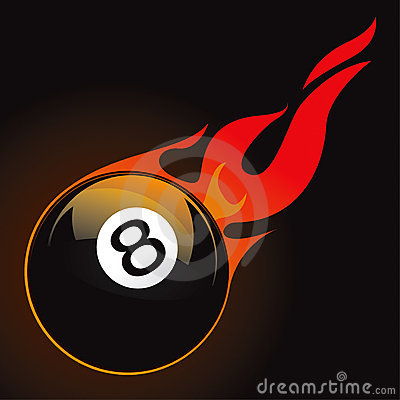 Royalty Free Stock Photography: 8 pool fire ball