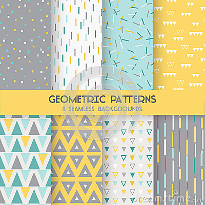 Free 8 Seamless Geometric Patterns Stock Photos - 51159293