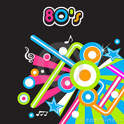 80 s Party background