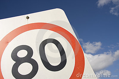 80 Speed Sign
