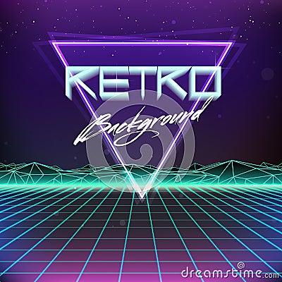 Free 80s Retro Futurism Sci-Fi Background Stock Photo - 51145550