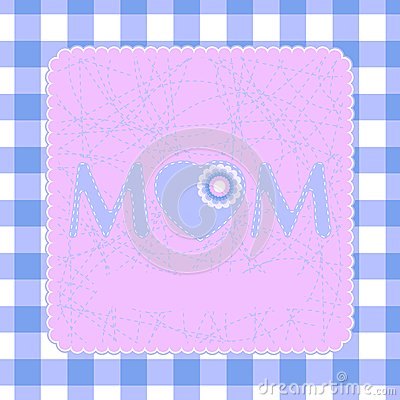 80s Style Mothers Day Card. EPS 8