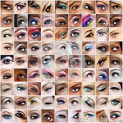 81 retratos dos olhos.