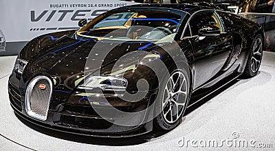 83rd Geneva Motorshow 2013 - Bugatti Veyron Editorial Photography